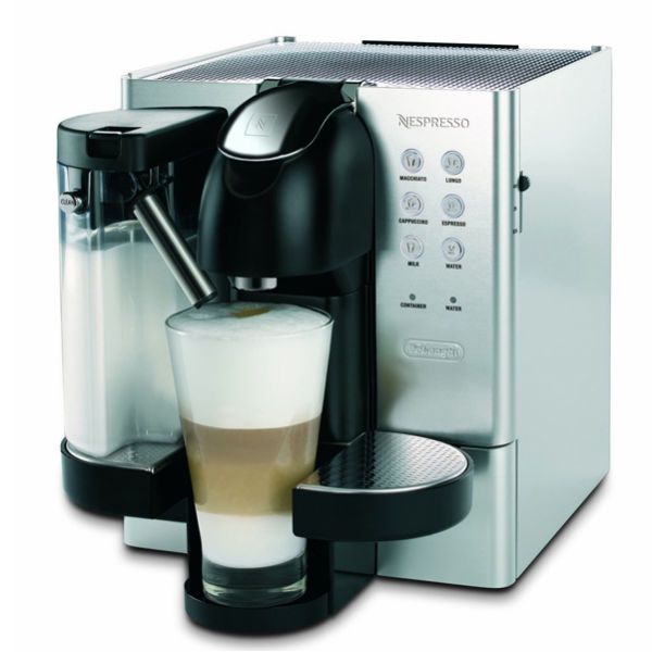 de 39 longhi nespresso capsule coffee machine brushed stainless steel finish iwoot. Black Bedroom Furniture Sets. Home Design Ideas