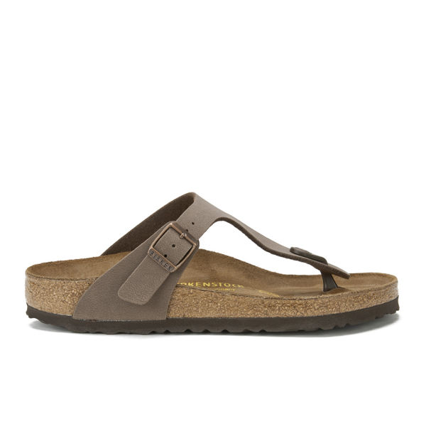 Birkenstock Women's Gizeh Toe-Post Leather Sandals - Mocha