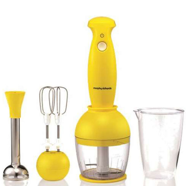 Yellow Small Kitchen Appliances: Morphy Richards Compliments Hand Blender Set
