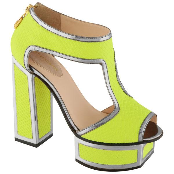 Kat Maconie Women's 'Abigail' Neon Platform Heels - Neon Yellow