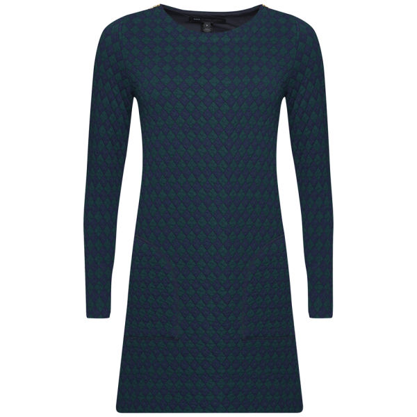 Marc by Marc Jacobs Women's Quilty Argyle Dress - Jungle Green