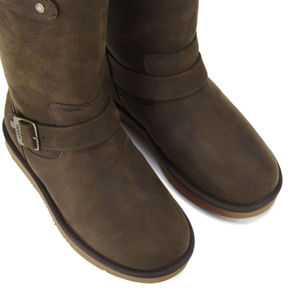 ugg s sutter waterproof leather buckle boots toast
