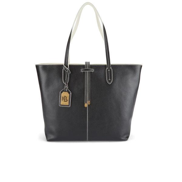 5f1210ba20eb Lauren Ralph Lauren Women s Crawley Unlined Tote Bag - Black Vanilla  Image  1