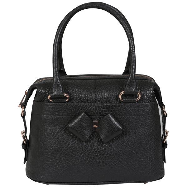 54cacef8c0d0 Ted Baker Auklet Leather Bow Bowler Bag - Black  Image 1