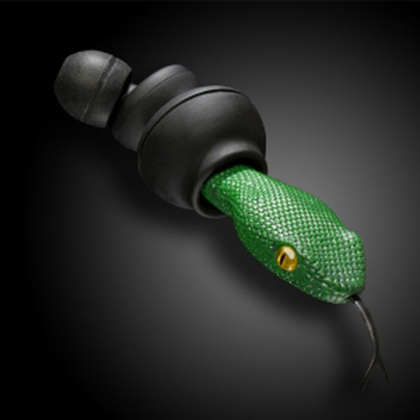 Quarkie Earphones - Viper Head Green