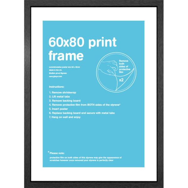 Black Frame 60 x 80cm