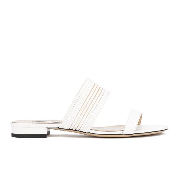 Diane von Furstenberg Women's Flavia Two Part Leather Sandals - White/Nude