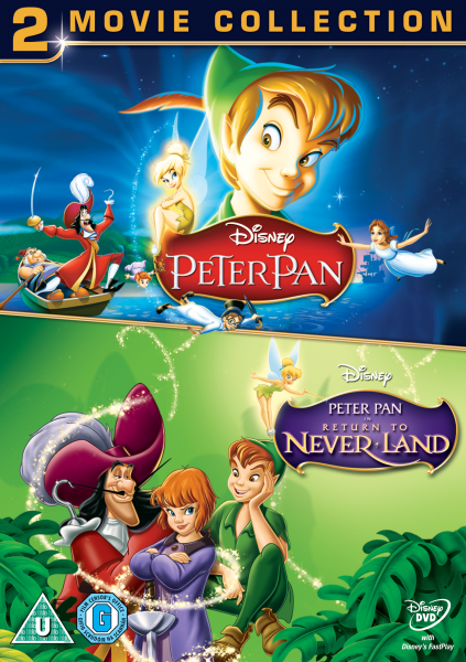 peter pan 1 and 2 duo pack dvd zavvi