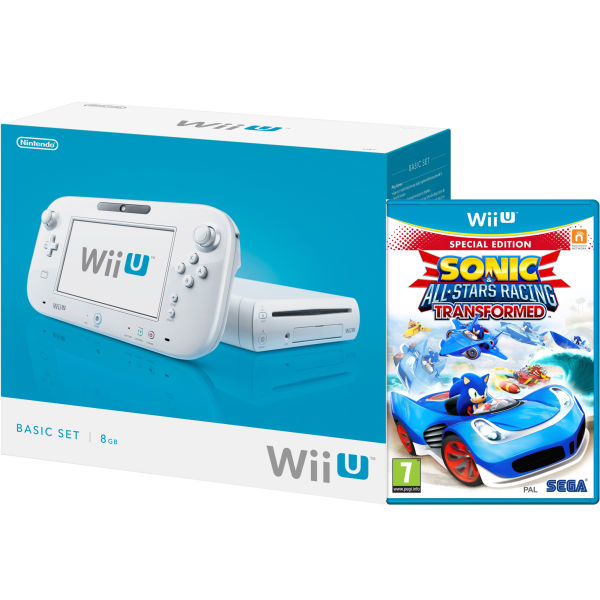Wii U Console 8gb Basic Pack White Includes Sonic And