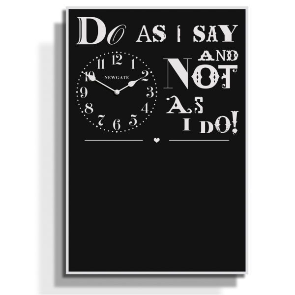 Do As I Say Chalkboard Memo Clock