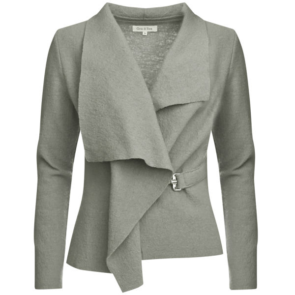 GROA Women's Boiled Wool Jacket - Light Grey