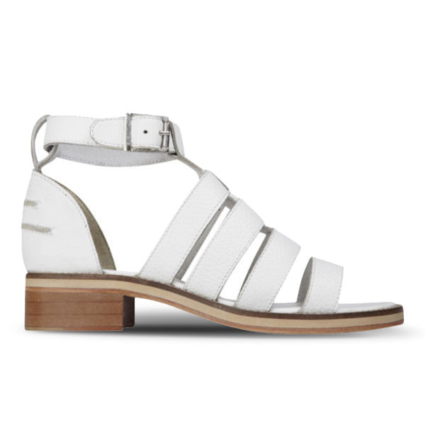 Sol Sana Women's Celeste Heeled Leather Sandals - White