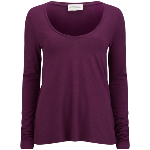 American Vintage Women's Jacksonville Long Sleeved T-Shirt - Plum
