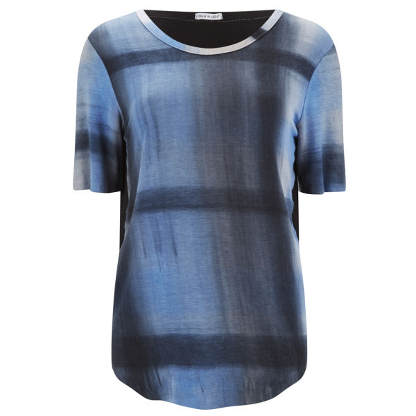 Draw in Light Women's Classic Tartan T-Shirt - Blue Tartan