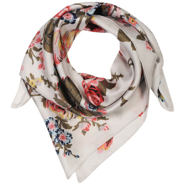 Joules Bloomfield Scarf - Silver Floral