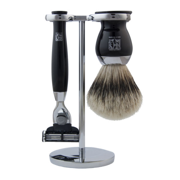 Geo. F. Trumper PBS Chrome Shaving stativ for Razor og Brush