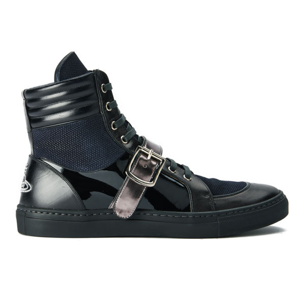 Vivienne Westwood Men's High-Top Leather Trainers - Black
