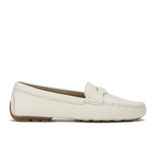 Lauren Ralph Lauren Women's Carley Leather Driver Shoes - Light Ivory