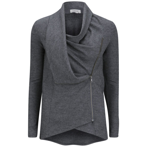 Helmut Lang Women's Wool Shawl Jacket - Charcoal Heather