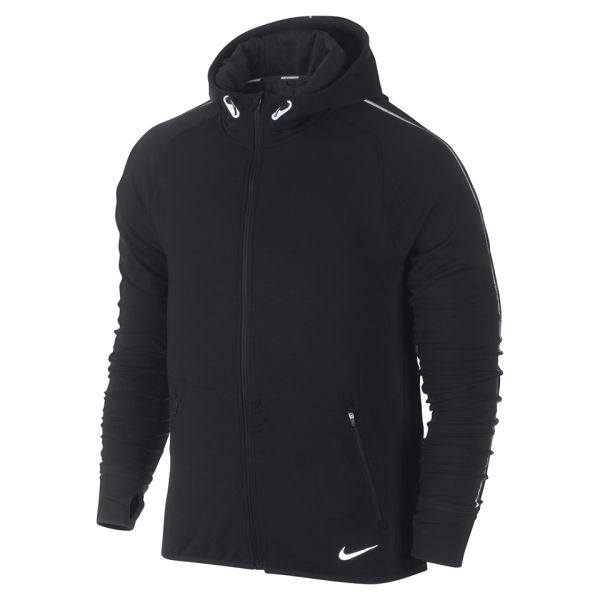 Nike Men 39 S Dri Fit Sprint Full Zip Hoody Black Silver