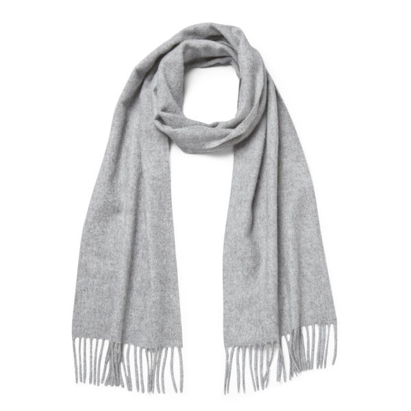 Knutsford Cashmere Scarf - Light Grey