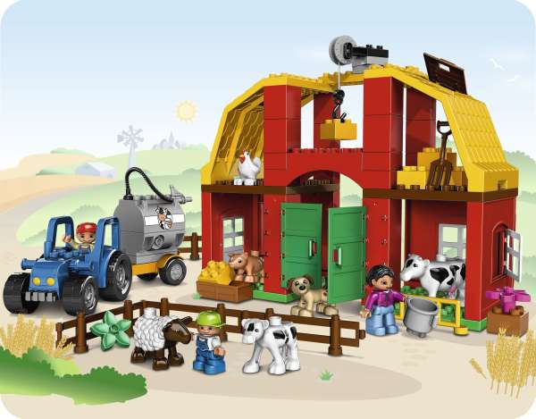 Lego duplo big farm 5649 toys for Modele maison lego duplo