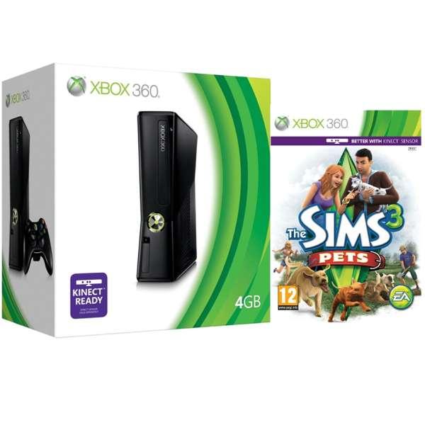 xbox 360 4gb arcade bundle includes the sims 3 pets games consoles zavvi