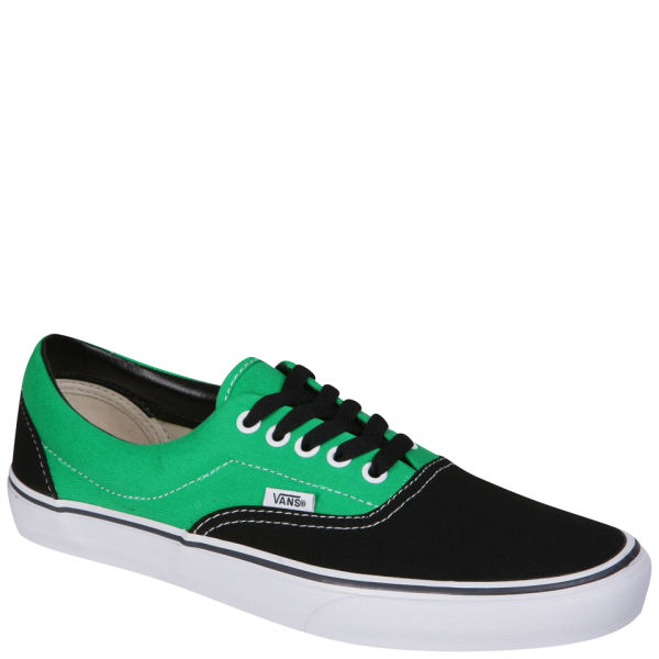 Vans ERA Canvas Two Tone Trainers - Black Bright Green  Image 1 dc0e24dc187a