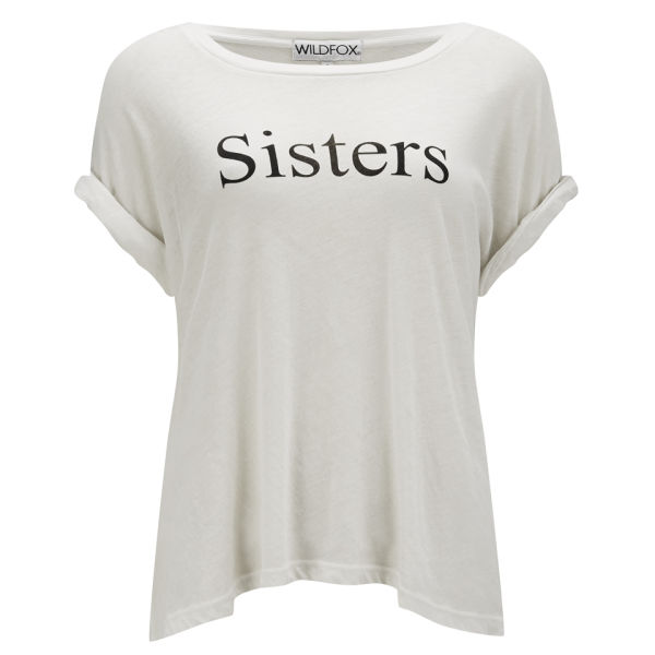 Wildfox Women's Sisters Oversized T-Shirt with Back Print - Vintage Lace