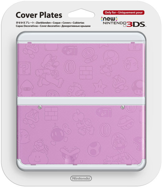 New 3DS Pink Super Mario Bros. Faceplate