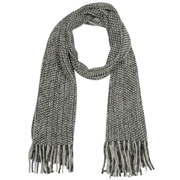 Men S Cable Knit Scarf Black Clothing Zavvi