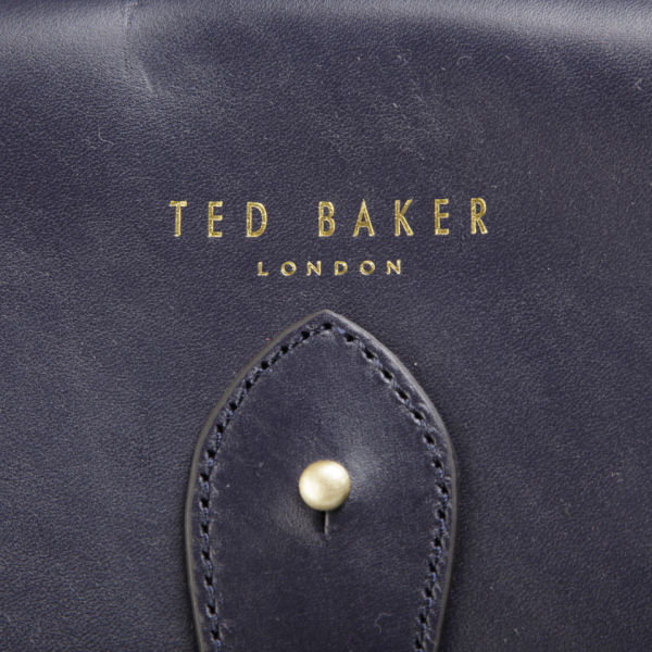 349096cff0ca7a Ted Baker Harlemm Mixed Leather Satchel - Dark Blue  Image 3