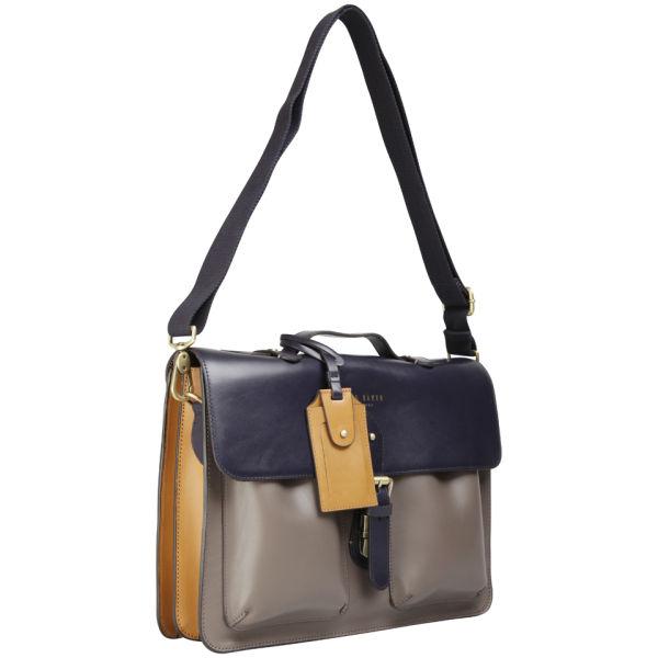 597d3fa405ef5d Ted Baker Harlemm Mixed Leather Satchel - Dark Blue  Image 2