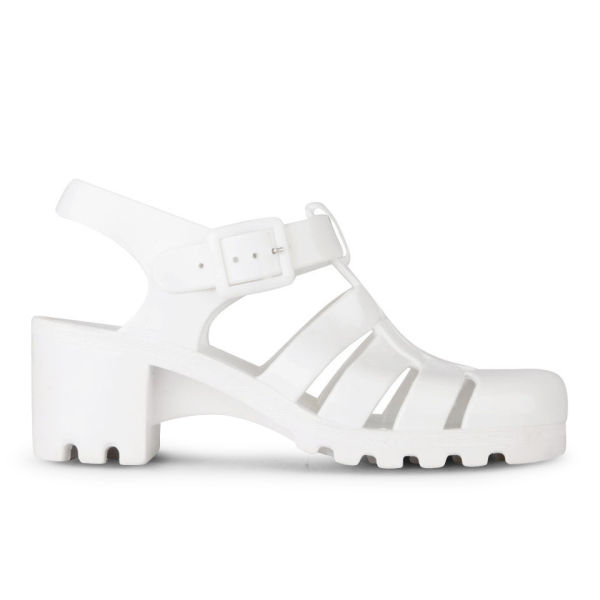 JuJu Women's Babe Heeled Jelly Sandals - White