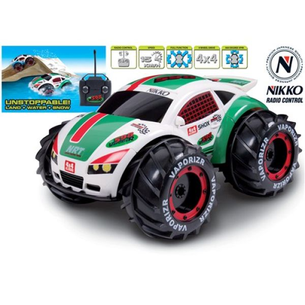 nikko vaporizr amphibious remote control car iwoot. Black Bedroom Furniture Sets. Home Design Ideas