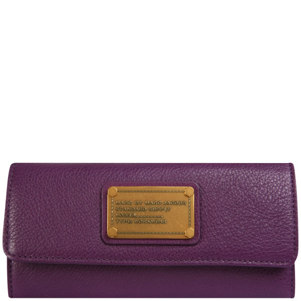 Marc by Marc Jacobs Long Trifold Purse - Pansy Purple - One Size