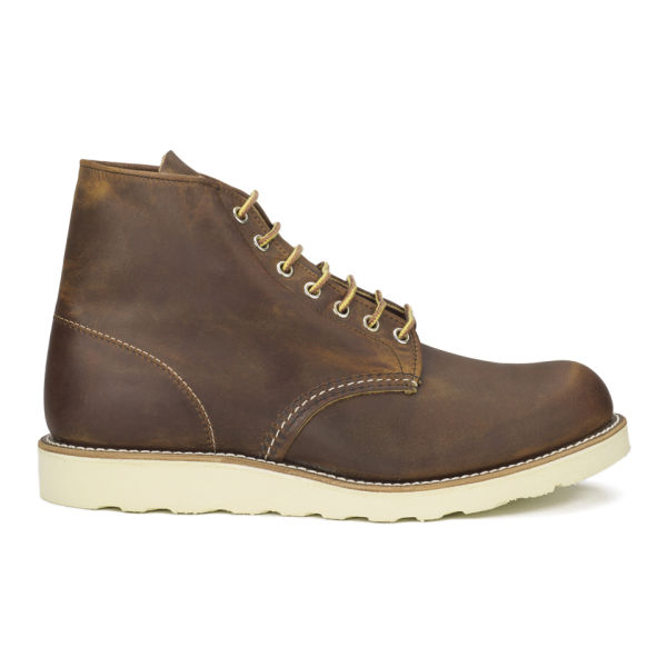 Red Wing Men's 6 Inch Classic Round Toe Leather Lace-Up Boots - Copper Rough and Tough