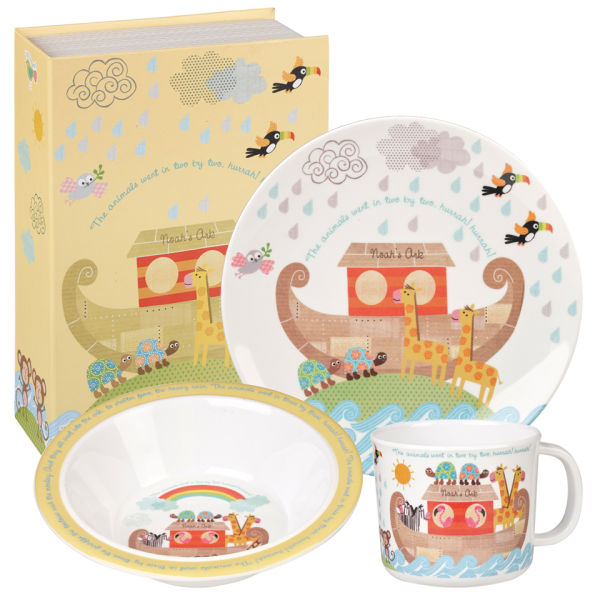 Little Rhymes Noah's Ark 3 Piece Melamine Breakfast Set - Multi