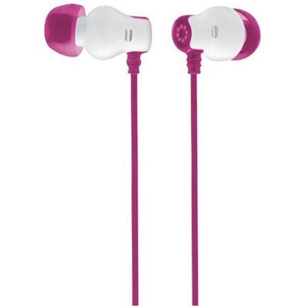Pink overhead earphones - earphones with radio built in