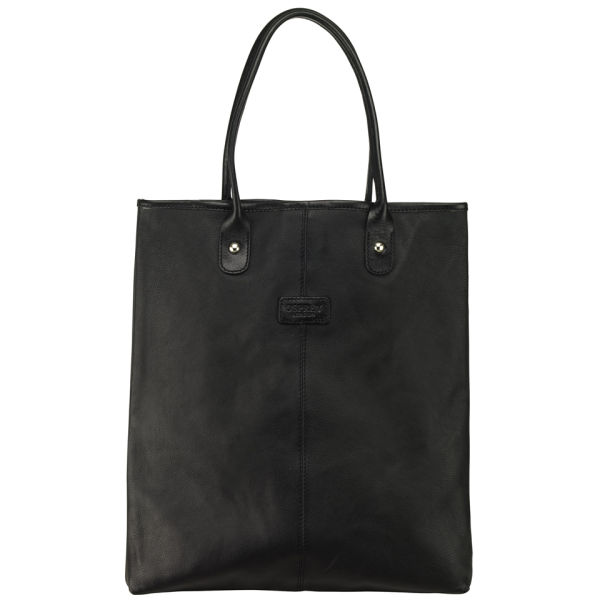 OSPREY LONDON The Zone A4 Leather Tote - Black