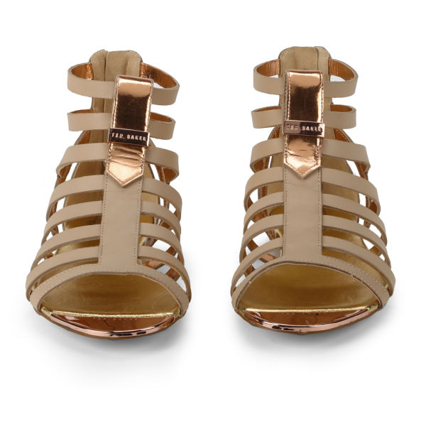 df68ff6ec Ted Baker Women s Fiachu Leather Gladiator Sandals - Nude Leather  Image 4