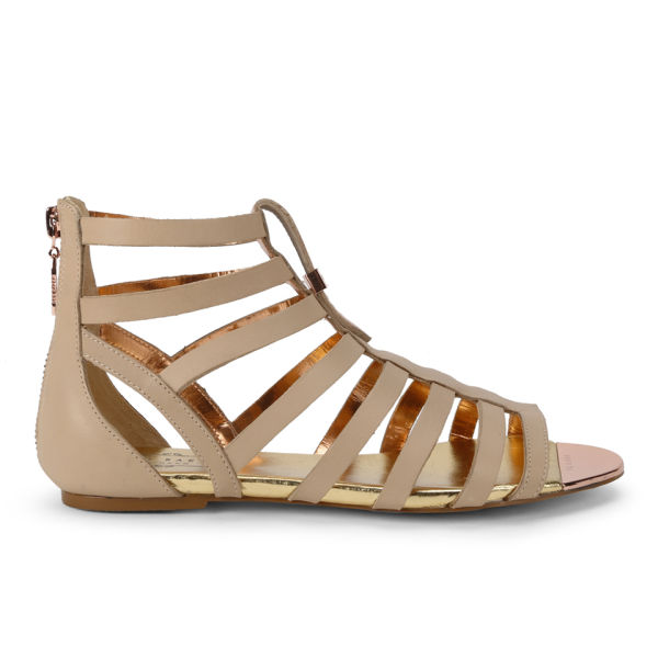 94ffa2089 Ted Baker Women s Fiachu Leather Gladiator Sandals - Nude Leather  Image 1