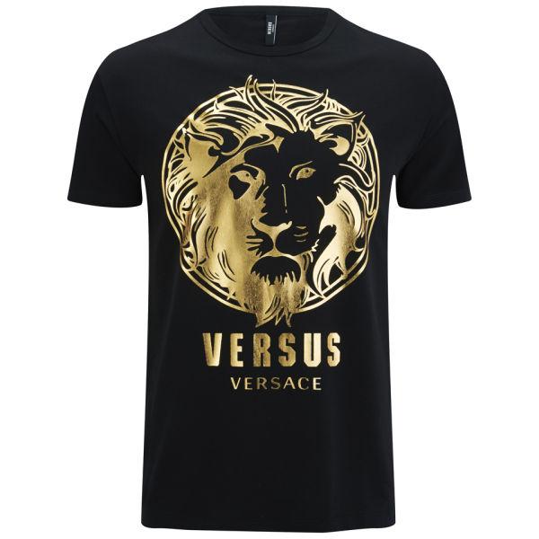 Versus Versace Men's Crew Neck Print T-Shirt - Black