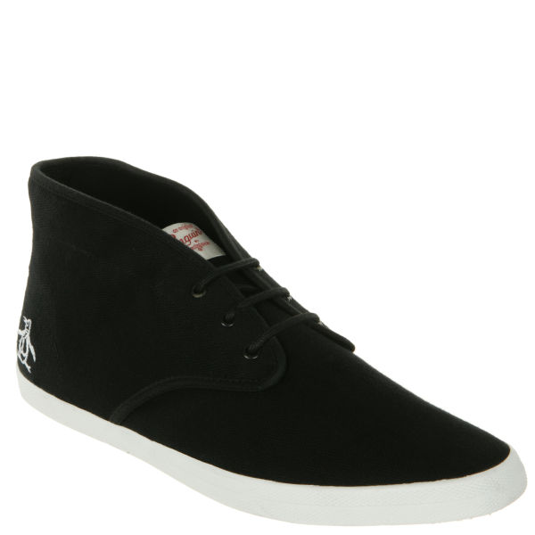 Original Penguin Men's Lance Canvas Trainers - Black