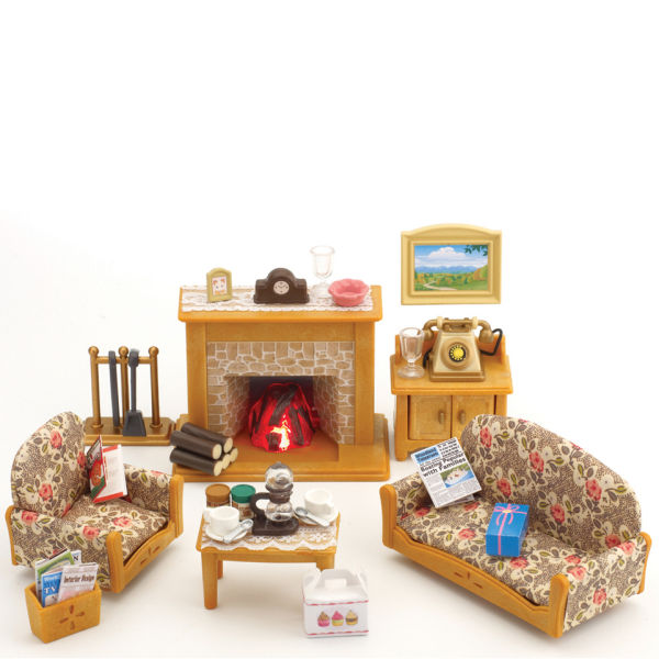 Sylvanian Families Country Living Room Set Toys | TheHut.com