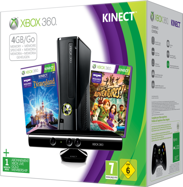 xbox 360 4gb kinect holiday bundle includes kinect. Black Bedroom Furniture Sets. Home Design Ideas