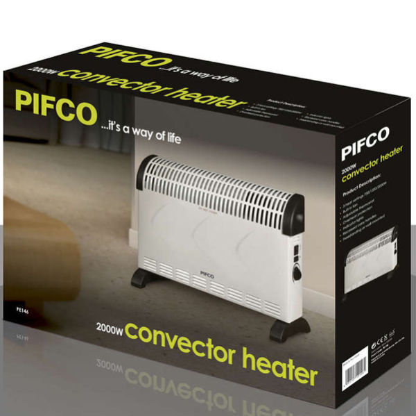 Pifco PE146 2000W Turbo Convection Heater with Fan
