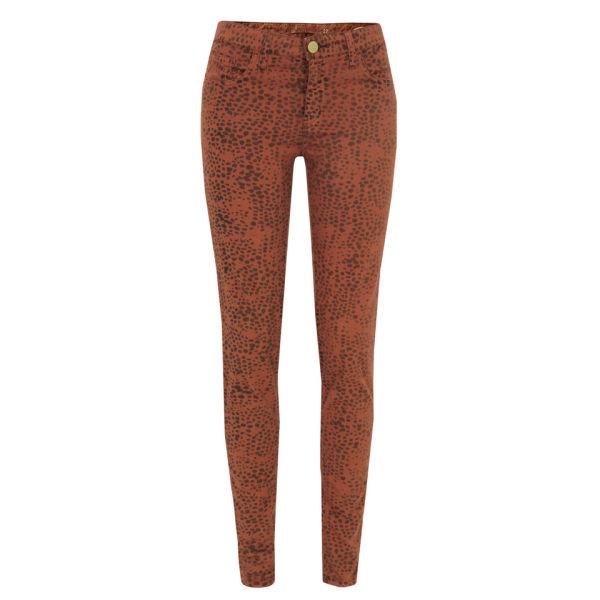 Shine Women's Kate Maya Luggage Skinny Jeans - Orange