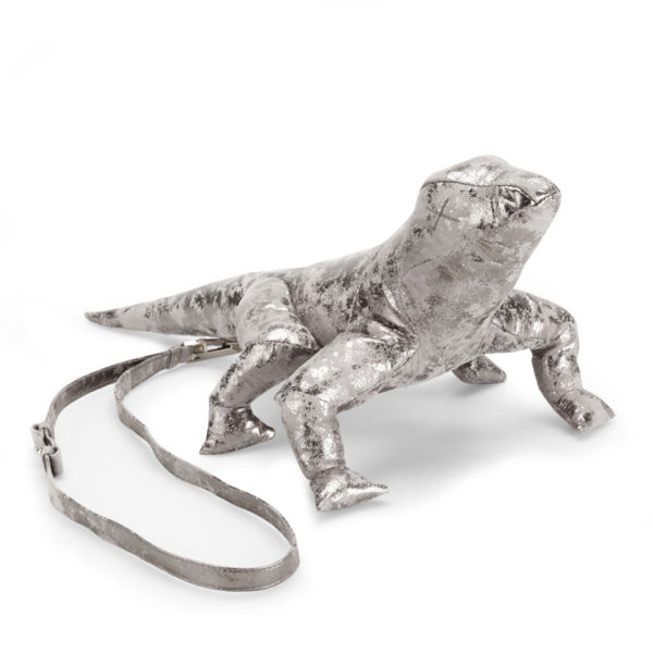 Christopher Raeburn Limited Edition Leather Lizard Bag - Distressed Silver