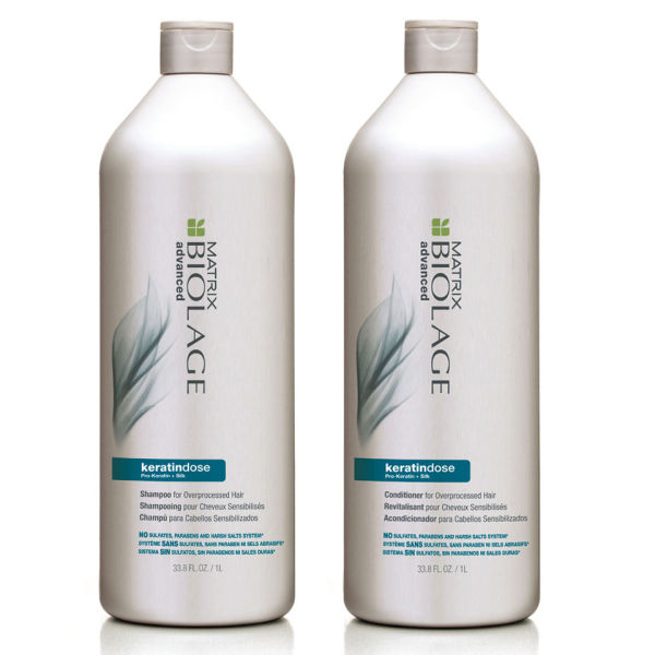 Matrix Biolage Advanced  Kératindose Duo Shampoing (1000ml) et Soin Revitalisant (1000ml)
